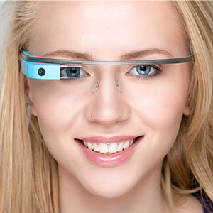Google Glass interactive glasses