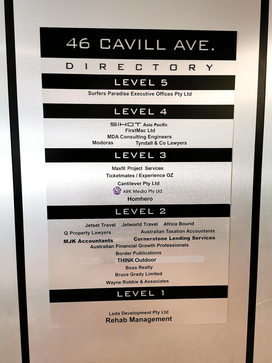 SIHOT Office Australia Lift Directory